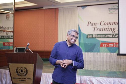 The training programmme facilitator, Dr Balasubramanian.