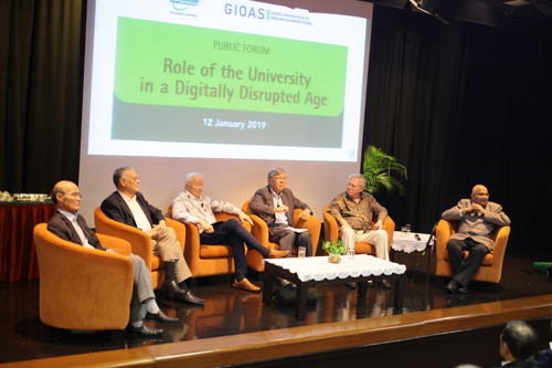 The panel of speakers with the moderator Tan Sri Andrew Sheng (3rd from right).