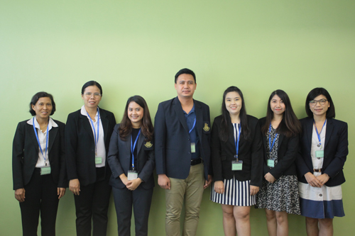 The PhD students from Silpakorn University.