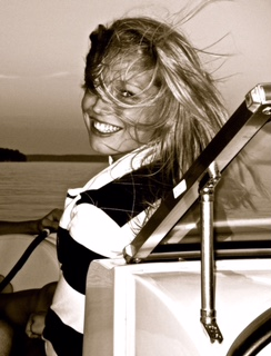 """Sarah,Watertown, NY, USA """"I feel beautiful when I am on the water"""""""