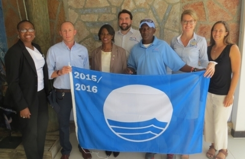 The Blue Flag award ceremony at Yacht Club Isle de Sol