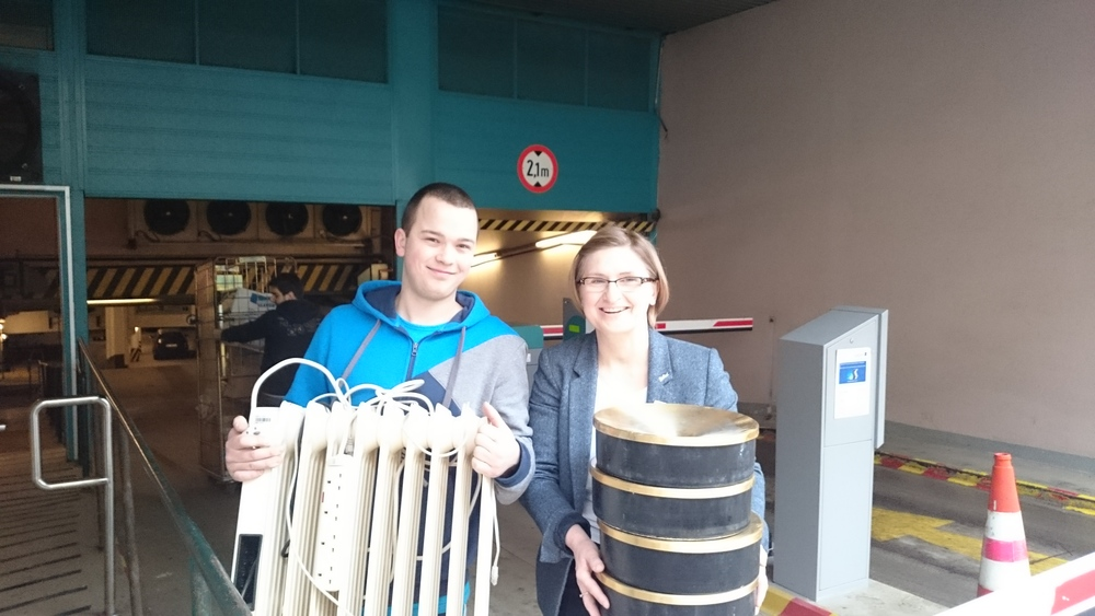 Staff of Radisson Blu Sobieski Hotel, Warsaw donates old electrical equipment to school for blind children in Warsaw.