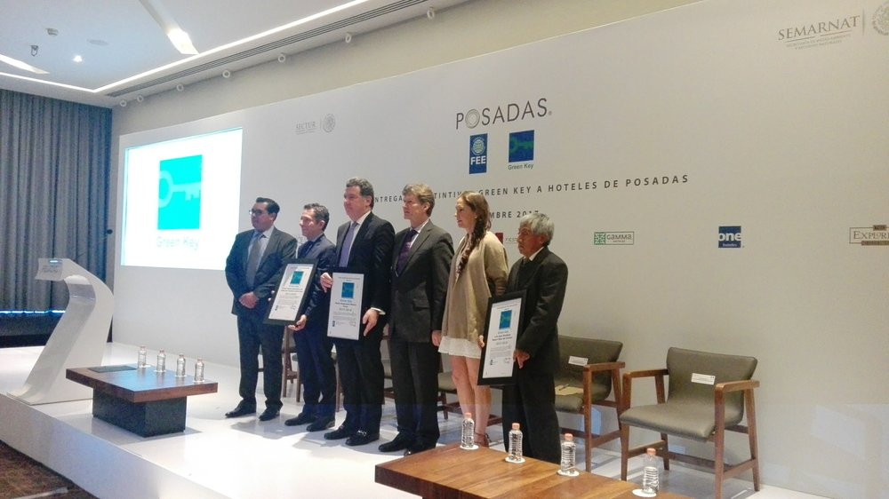 Award ceremony of Grupo Posadas