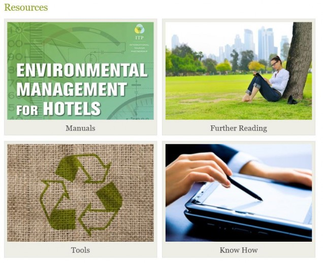 """Know How Guides"" on sustainability on the Green Hotelier website"