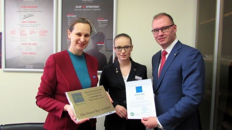 First Green Key award in Chelyabinsk, Russia