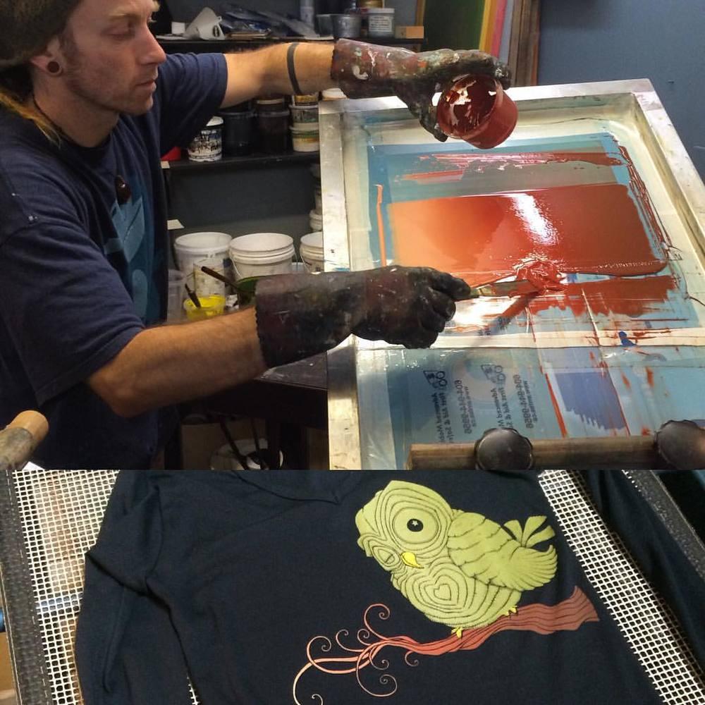Erin printing 'Owlie'