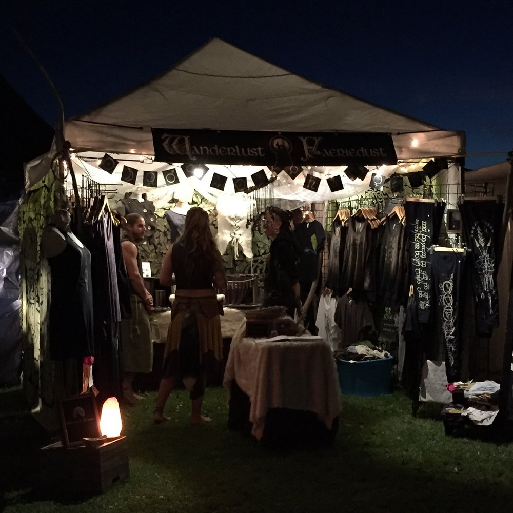 Night atmosphere in our vending booth