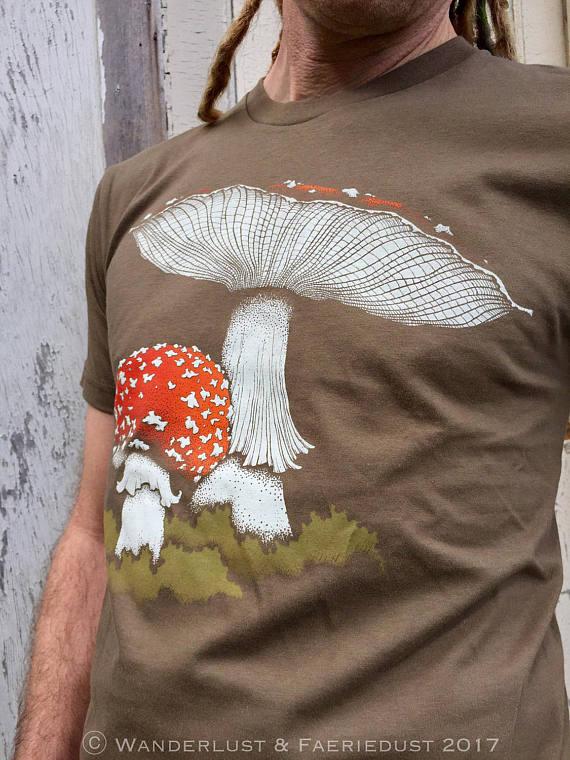 Amanita Mushroom Tee