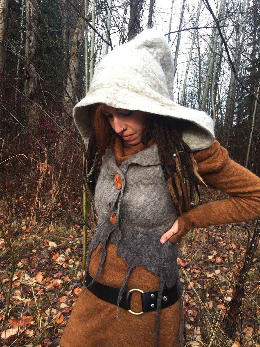 Forestdweller handfelted Vest