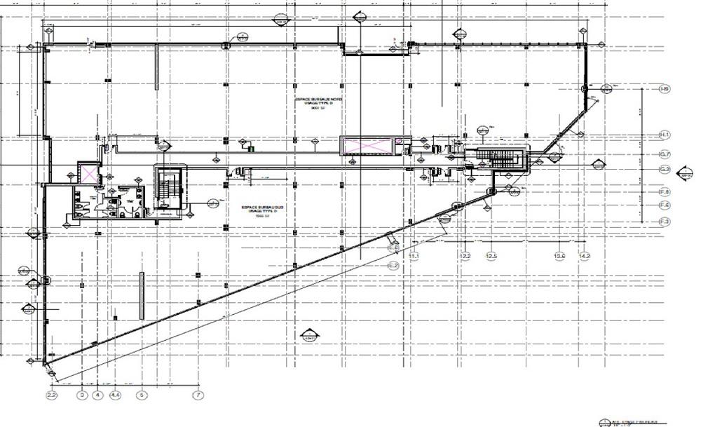 Plan du  2ème étage