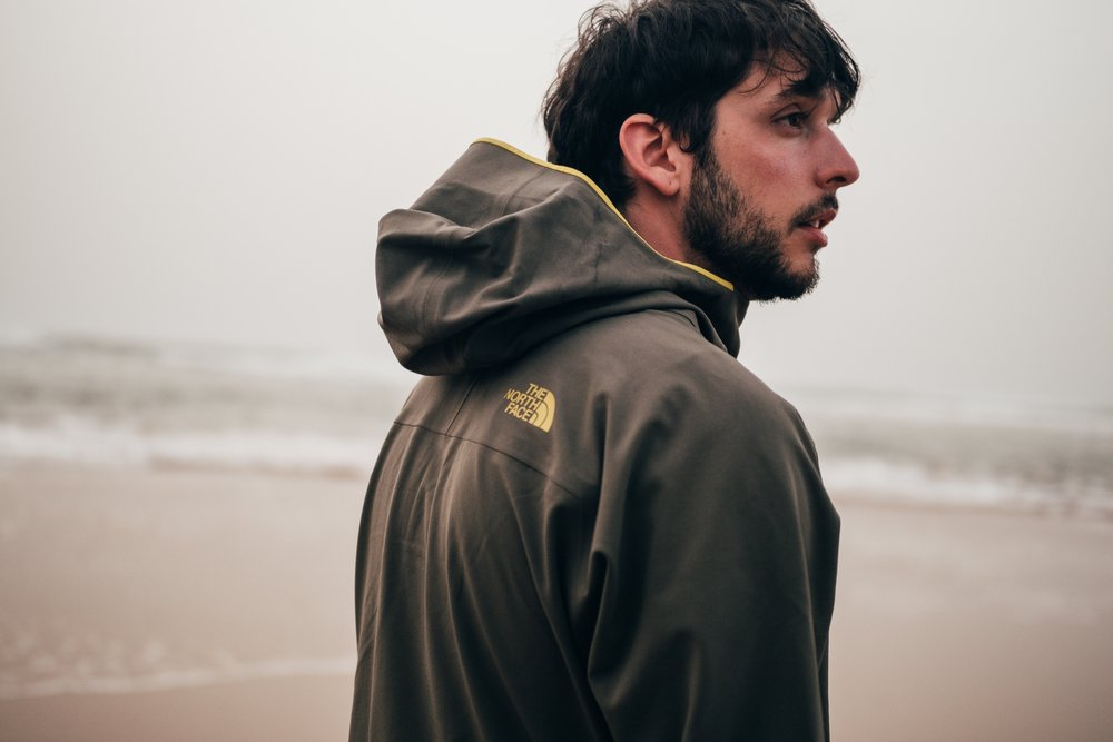 The North Face // Apex Flex   As brand ambassador for social media, I was commissioned by The North Face to create content highlighting the new Apex Flex, so we took it to Moroccan beaches to test it out and create a color palette with the sand, the rocks and the ocean.