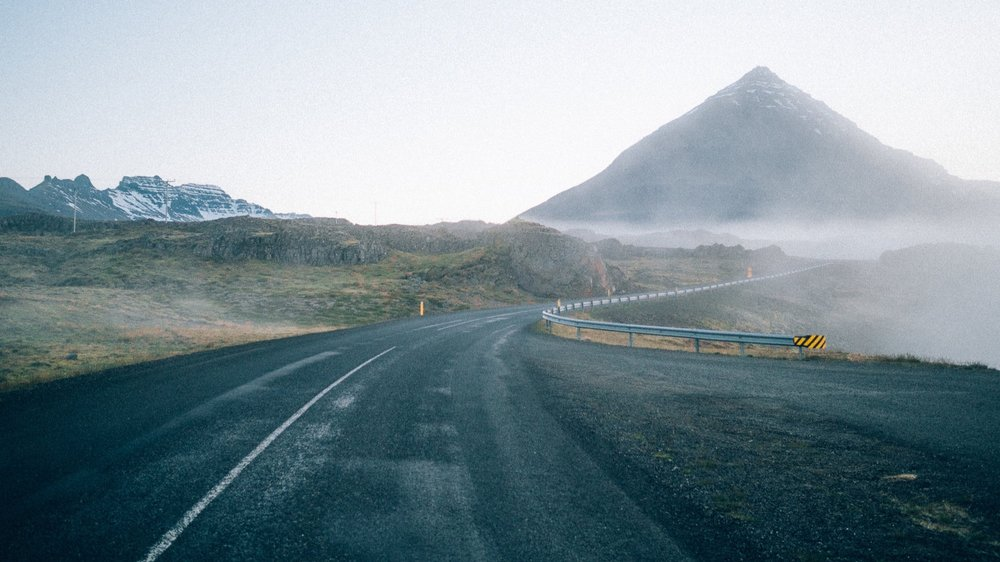 Part I // A road trip under the midnight sun in Iceland.   64° 7' 41.8368'' N / 21° 49' 39.9864'' W