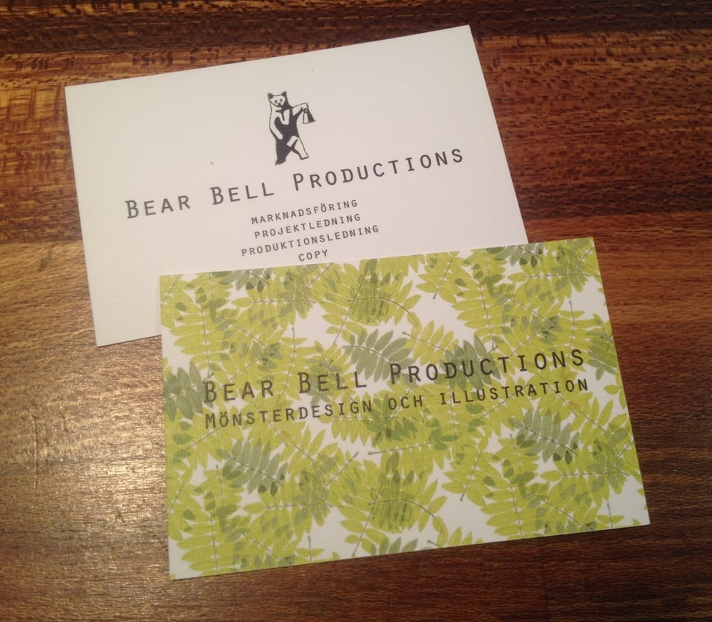 Not hard to tell where my true passion was even on the business cards.