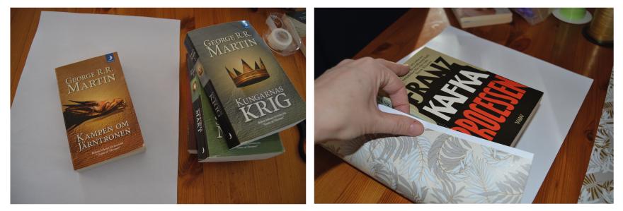 Hela Game of Thrones-serien kom till användning igen. Och Processen av Kafka fick en användning för första gången...