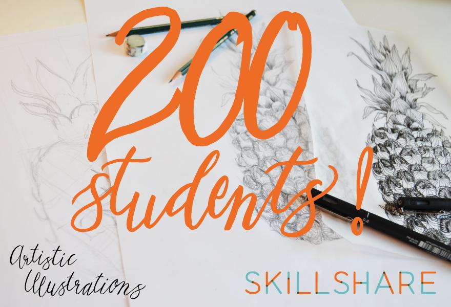 Skillshare 200 students
