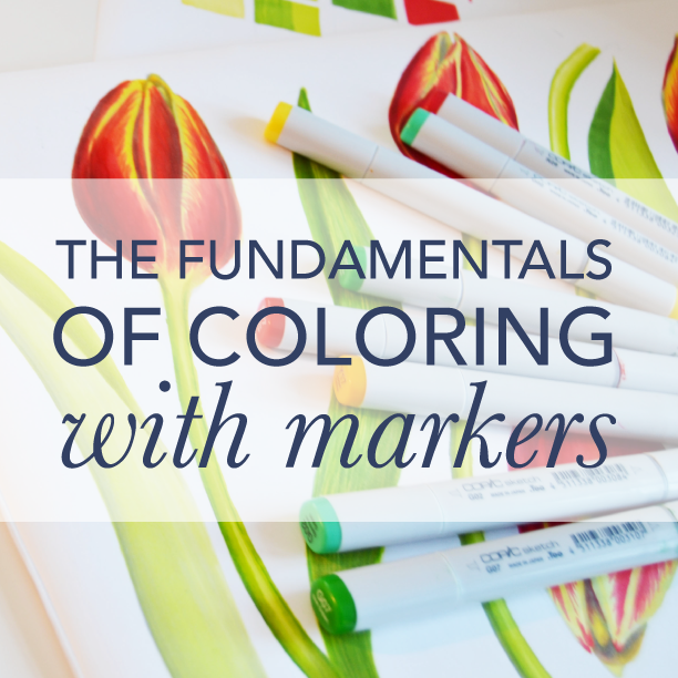 The fundamentals of coloring with markers - gives you a kick start to create illustrations and other artwork using professional markers. Color systems, basic strokes and techniques and everything you need to get started. To the course >>