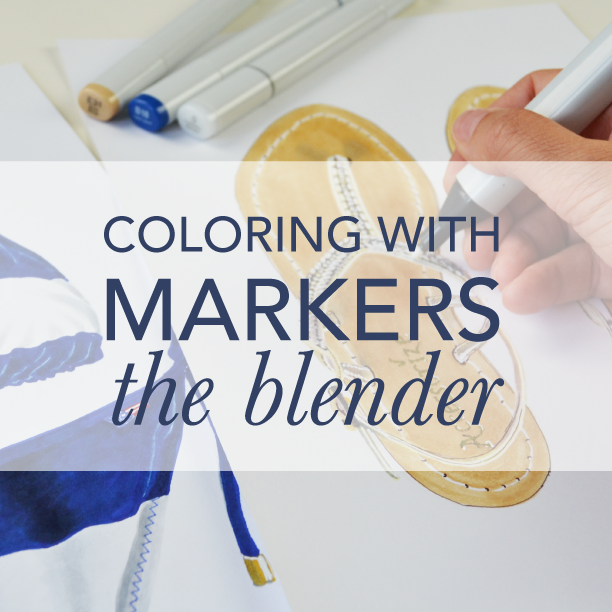Coloring with markers - the blender In this course you'll learn to create life like and commercial illustrations by adding texture and other effects using the colorless blender. To the course >>