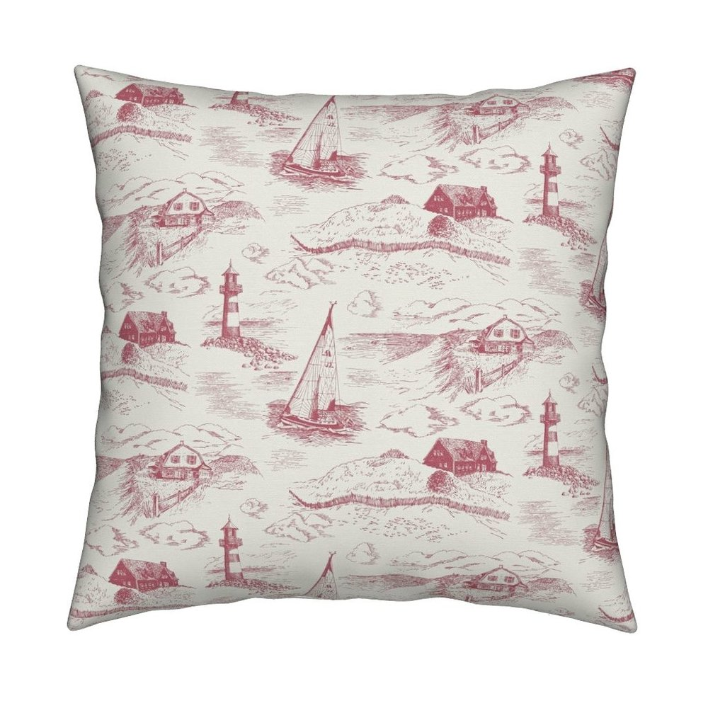 NEW! toile de cape cod pillow - Order on Roostery >>
