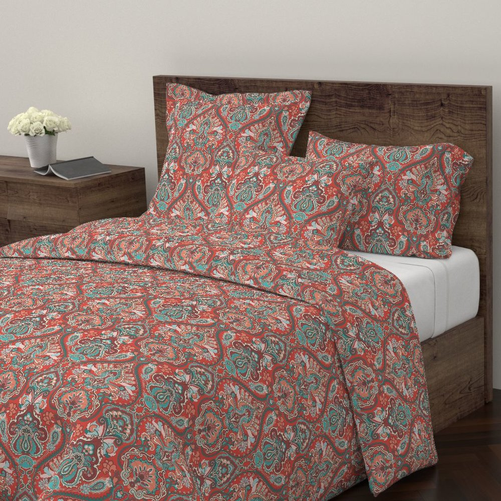adrian paisley pacific duvet cover  - To the Roostery shop >>