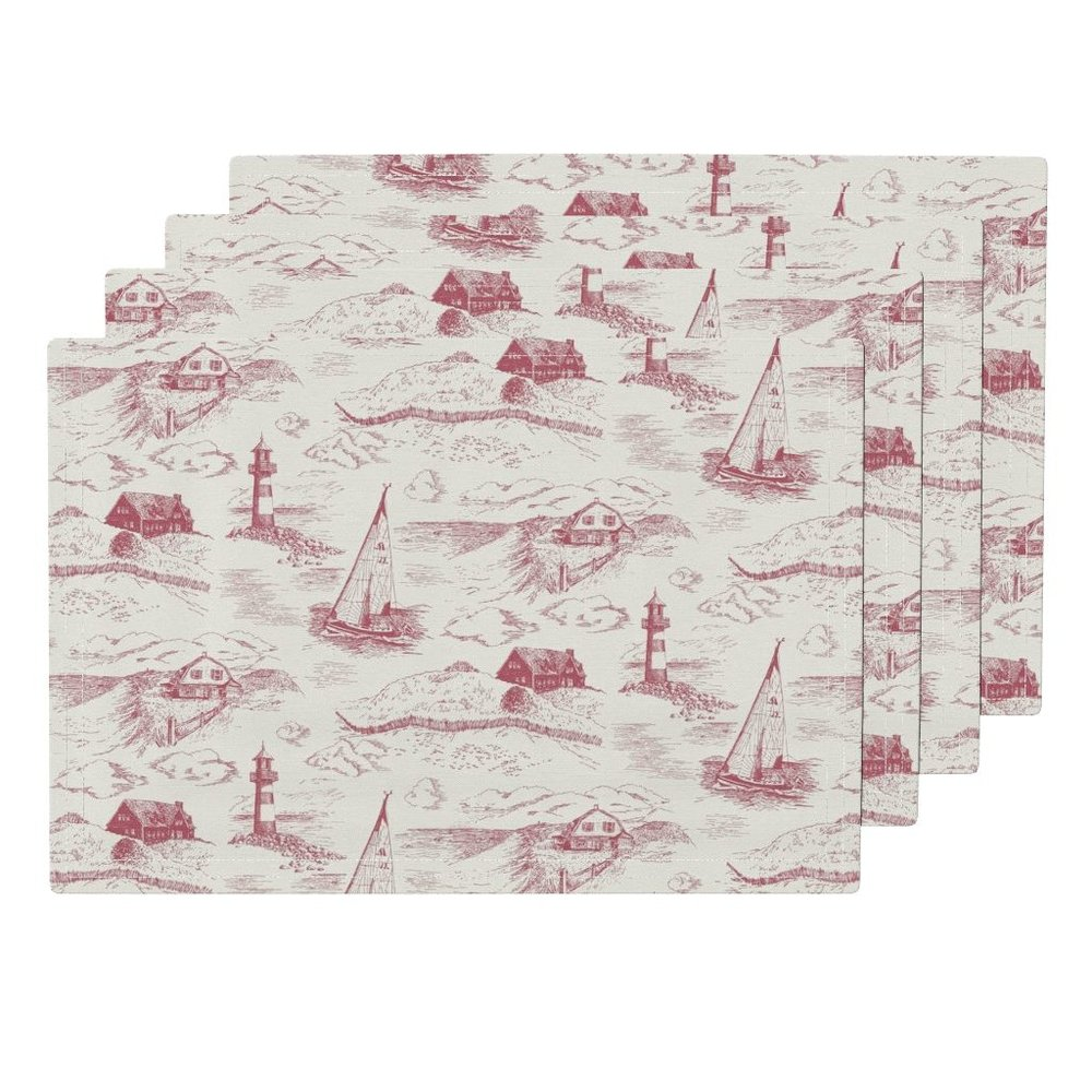 Toile cape codevening placemats - To the Roostery shop >>