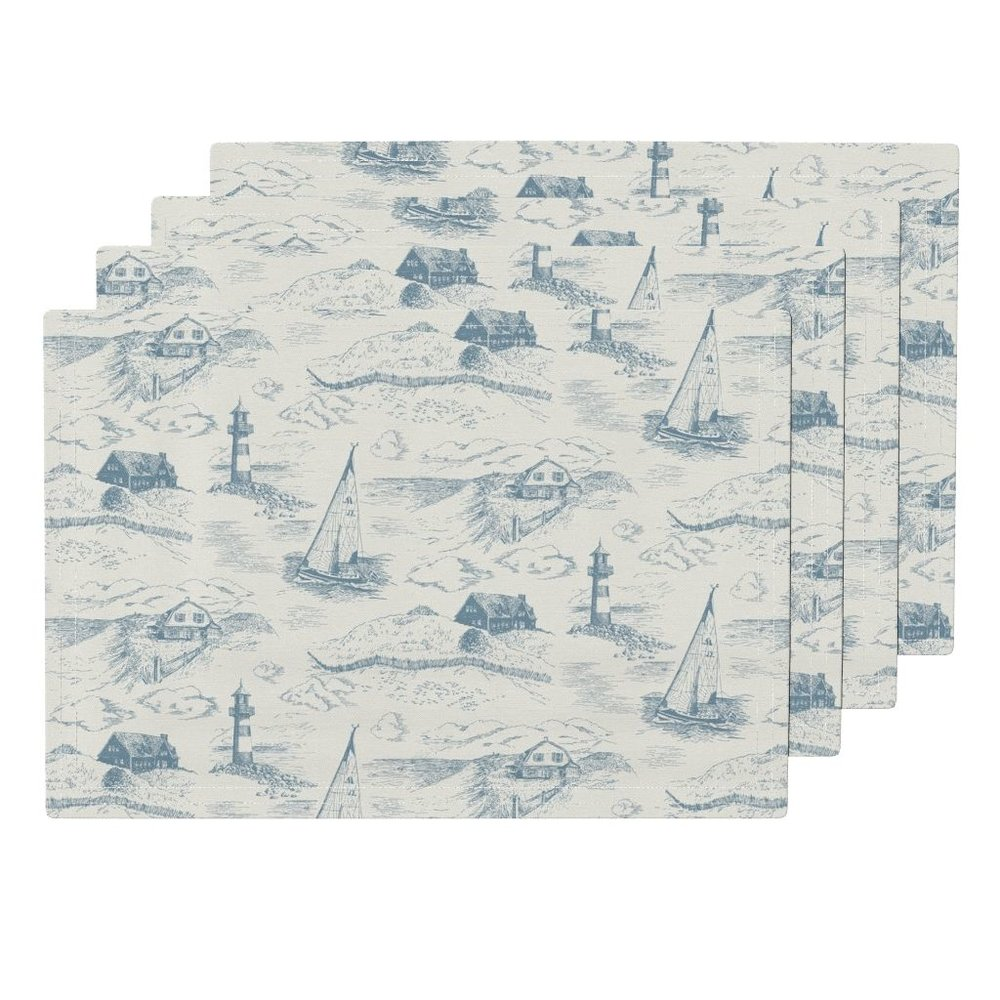 toile cape codmorning placemats - To the Roostery shop >>