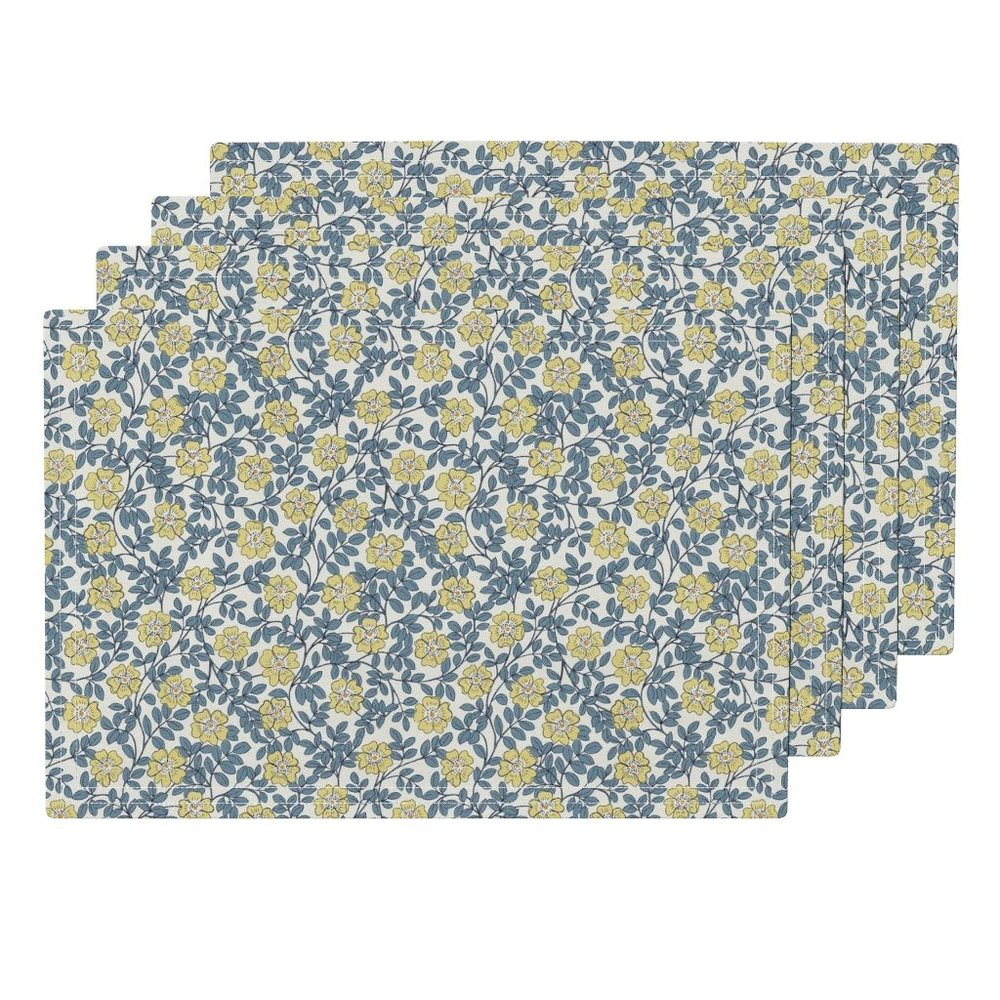 evening wild roseplacemats - To the Roostery shop >>