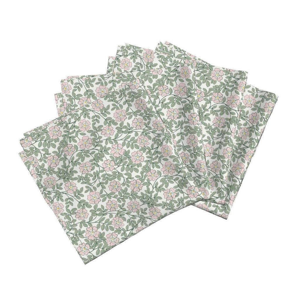 morning wild rosedinner napkins - To the Roostery shop >>