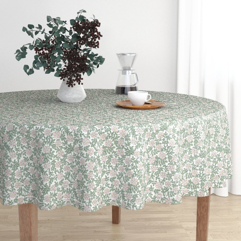 morning wild roseTable cloth - To the Roostery shop >>