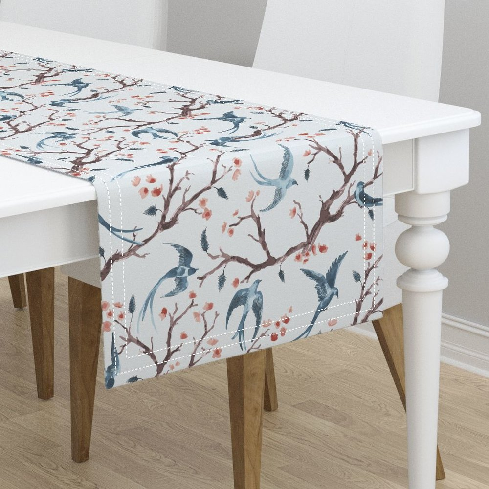 Wings & tails beach housetable runner - To the Roostery shop >>