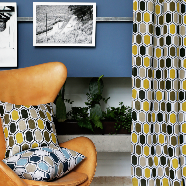 I could finally announce my collaboration with Svanefors Textil - one of Swedens largest wholesalers of home textiles & decor, with their launch of the A/W-18 collection where my design GEMSTONE was included.