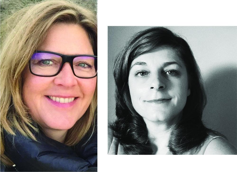 Annemieke (l) en Monique (r) nu