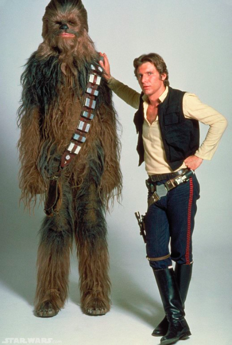 Chewbacca and Han Solo, back in the day.