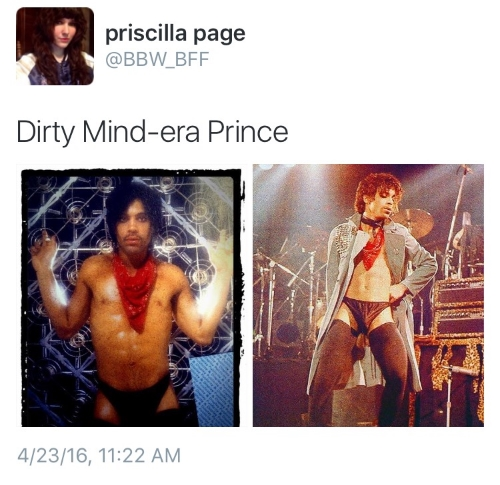 Not sure very many people could get away with this and still be taken seriously besides Prince.  Pricilla wrote this wonderful piece about Prince.