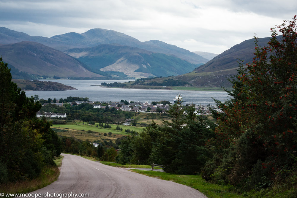 Ullapool from the A832