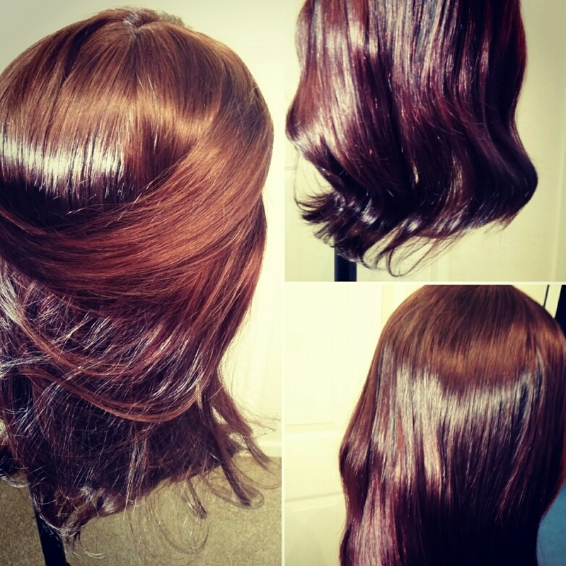 Custom coloured human hair wig