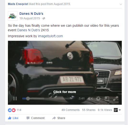 Delt 55 gange, over 1.000+ views på facebook