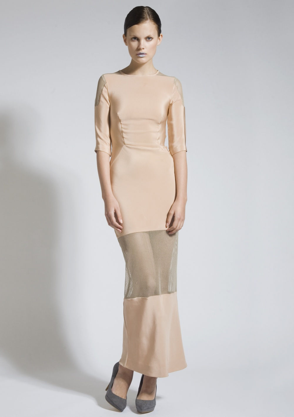 7 Nude Silk Dress with Net Inserts.jpg