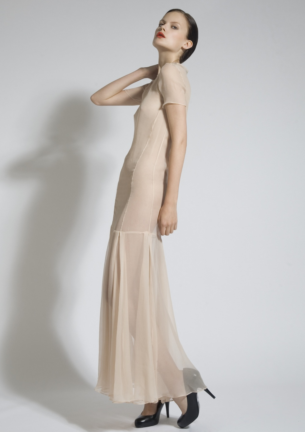 9 Nude Chiffon Pleat Dress.jpg