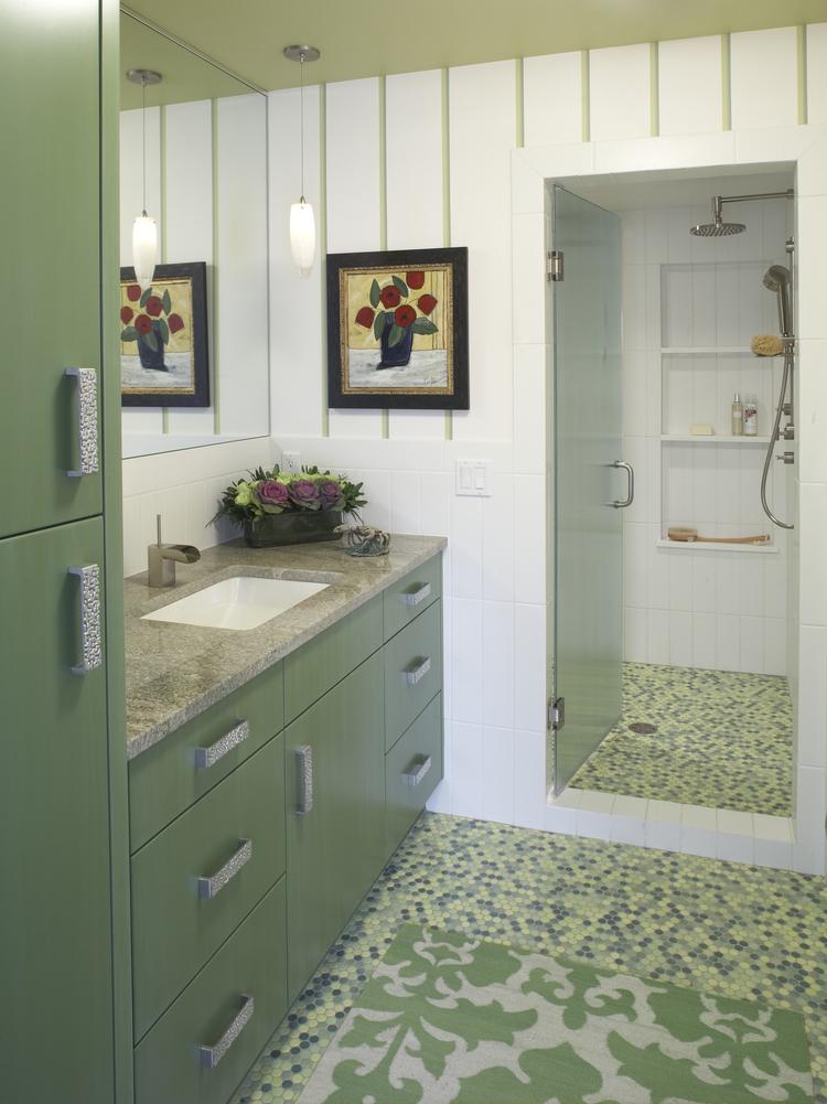 Pool Bathroom splashy remodel for an edina pool bathroom — ma peterson