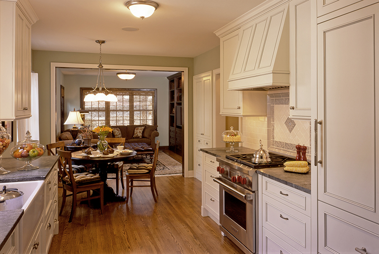 S Tudor Home Gets An Updated Open Kitchen MA Peterson Designbuild - Tudor kitchen remodel