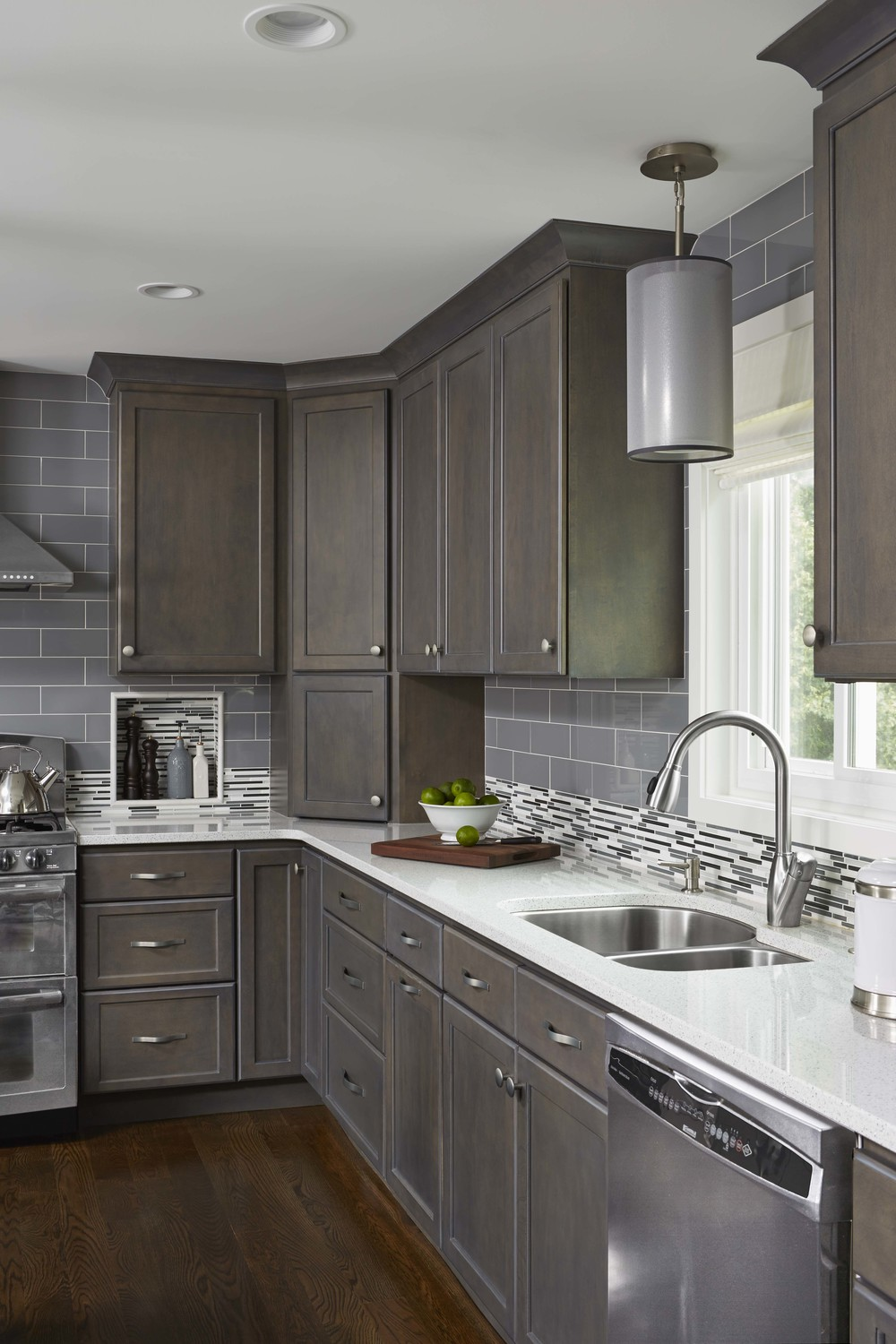 Contemporary Monochromatic Kitchen Remodel In Woodbury, MN