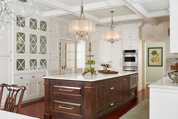 Bright Medina Family Kitchen Cook's Paradise The main floor spaces were undefined. They were dark, dated, disconnected and needed a renovation that was worthy of a beautiful 2 acre setting.  Exterior walls couldn't be moved, but there was a lot of room for improvement within.