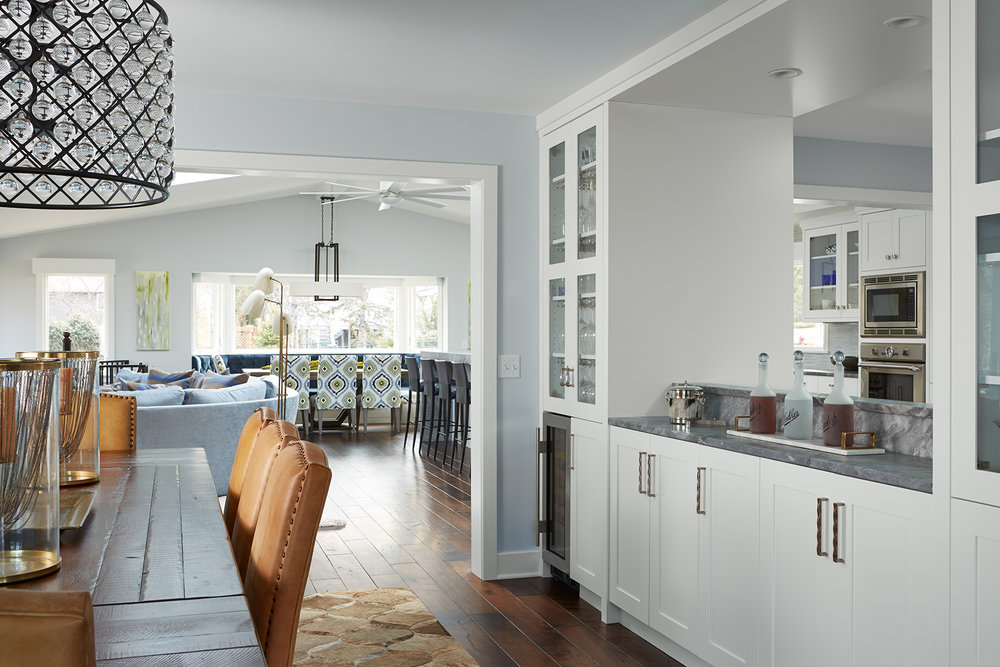 Dining Room Becomes Open Throughway in Edina