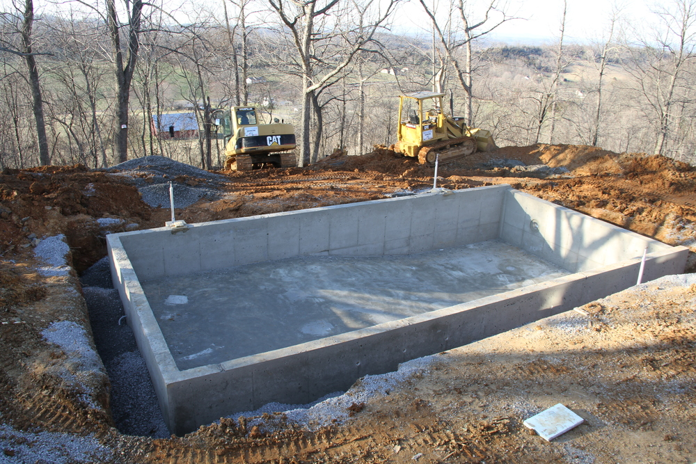 Harp legacy construction concrete foundations framing for Concrete pool construction