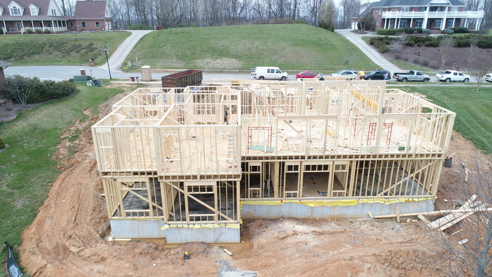 Framing custom home Indian Ridge Johnson City TN