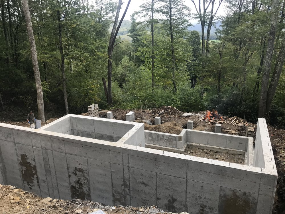 Another foundation complete in Linville, NC. We will be framing this house as well. #harplegacy