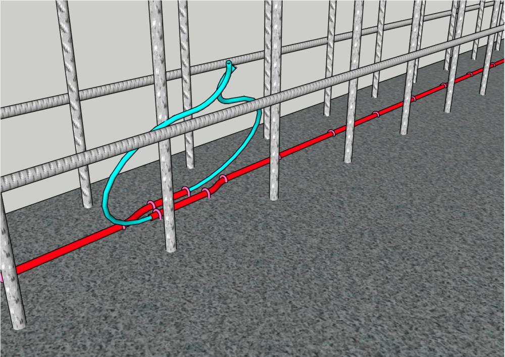 Illustrasjon slangemontasje.