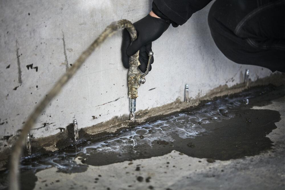Vi STOPPER VANN i betong