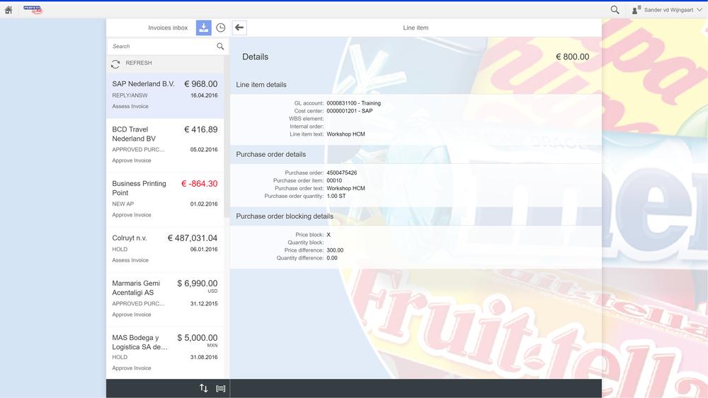 Voorbeeld implementatie: PO prijsverschil