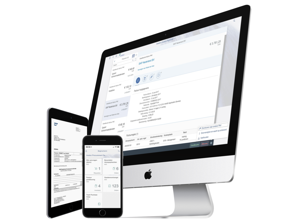 SAP Fiori invoice approval app